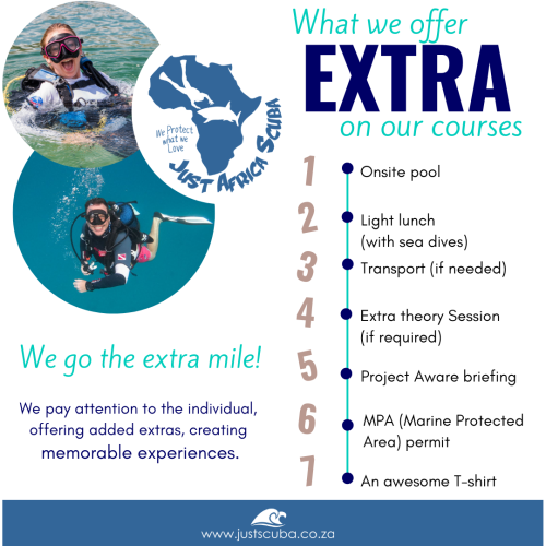 what we offer extra scuba courses